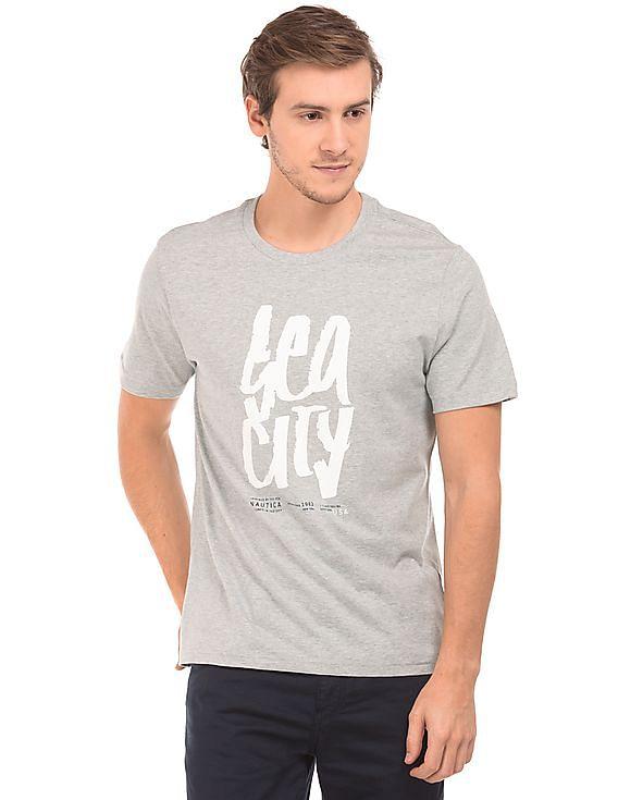 Upto 60% off NAUTICA - Men & Women By Nnnow | NAUTICA Crew Neck Heathered T-Shirt @ Rs.1,799