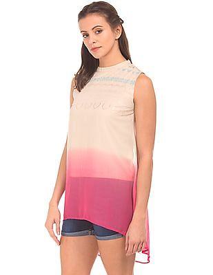 Bronz Ombre Dyed Foil Print Tunic