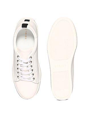 Stride White Low Top Platform Sneakers