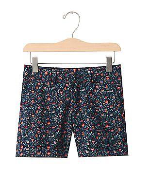 GAP Girls Multi Colour Print Midi Shorts
