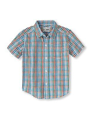 The Children's Place Baby Blue Short Sleeve Check Shirt