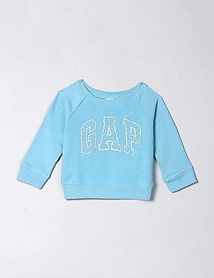 GAP Baby Full Sleeve Glitter Print Sweatshirt