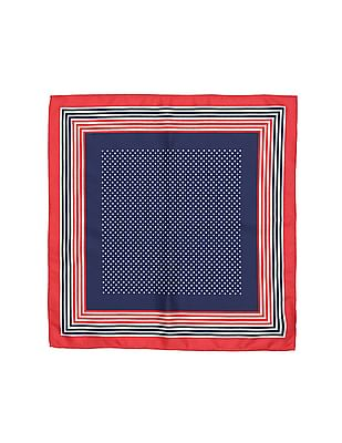 Arrow Star Print Pocket Square