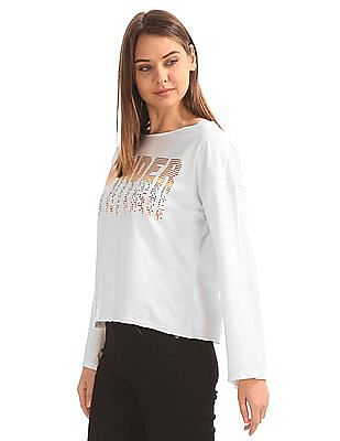 SUGR Embellished Front Boxy Top