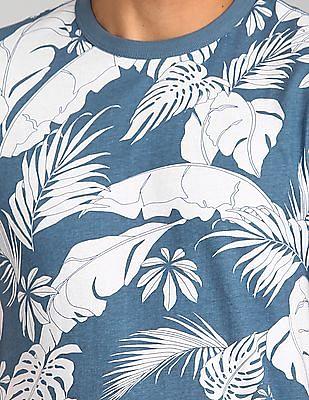 GAP Tropical Print Short Sleeve Crewneck T-Shirt