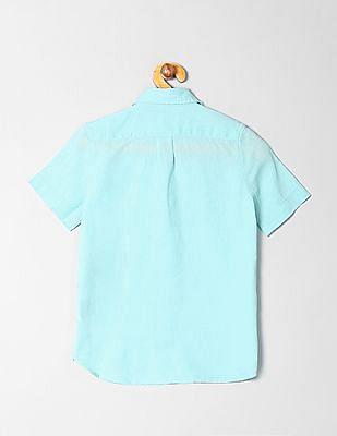 GAP Boys Short Sleeve Linen Cotton Shirt