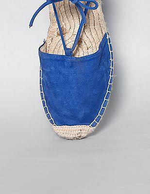 GAP Women Blue Lace Up Espadrilles