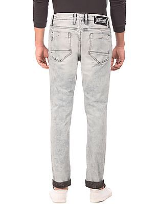 Ed Hardy Bleached Super Slim Fit Jeans