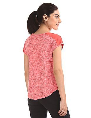 SUGR Contrast Print Active Top