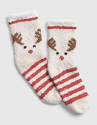 GAP Baby White Cozy Graphic Socks
