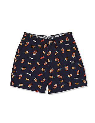 Flying Machine Printed Cotton Boxers