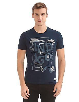 Flying Machine Printed Round Neck T-Shirt