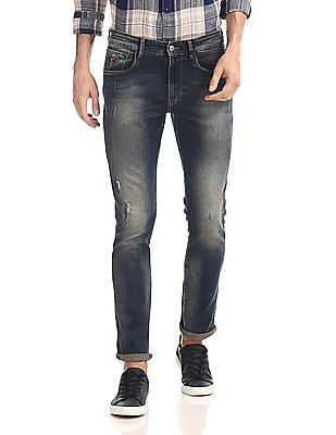U.S. Polo Assn. Denim Co. Woody Slim Straight Fit Washed Jeans