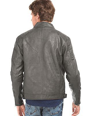 Flying Machine Textured Slim Fit Bomber Jacket