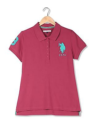 U.S. Polo Assn. Women Solid Pique Polo Shirt