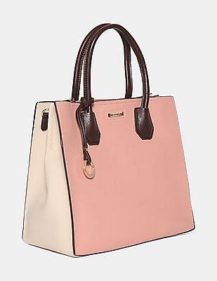Stride Contrast Strap Textured Tote Bag