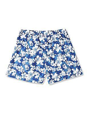 Izod Floral Print Board Shorts
