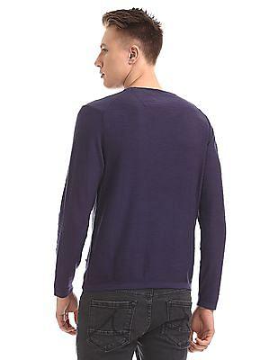 Cherokee Solid Crew Neck Sweater