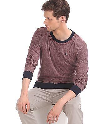 Arrow Sports Red Crew Neck Reversible Sweatshirt