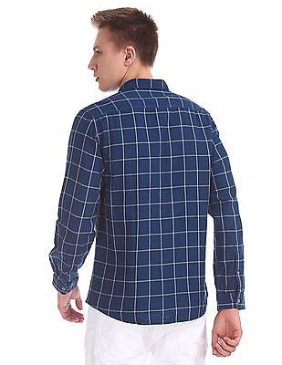 Cherokee Cutaway Collar Check Shirt