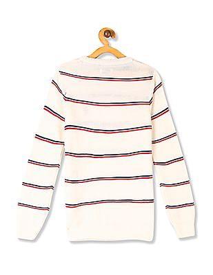 U.S. Polo Assn. Kids Boys Crew Neck Striped Sweater