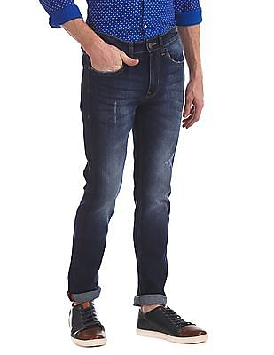 Arvind Skinny Fit Stone Wash Jeans