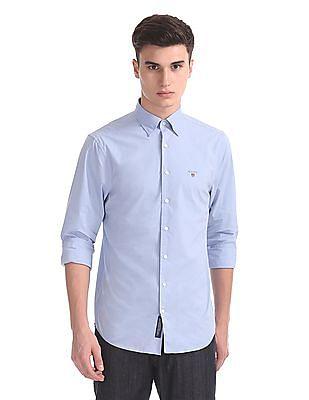 Gant Tech Prep Broadcloth Solid Hidden Button Down Shirt