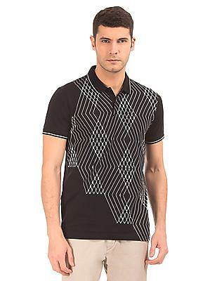 Arrow Newyork Printed Front Tipped Polo Shirt