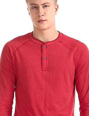 Cherokee Red Slim Fit Henley T-Shirt