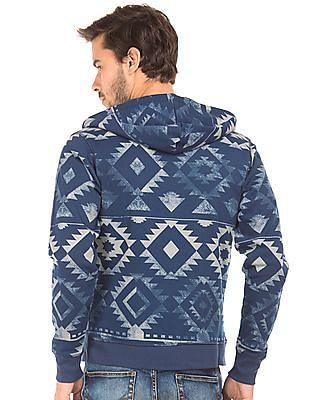 Flying Machine Hooded Printed Sweatshirt