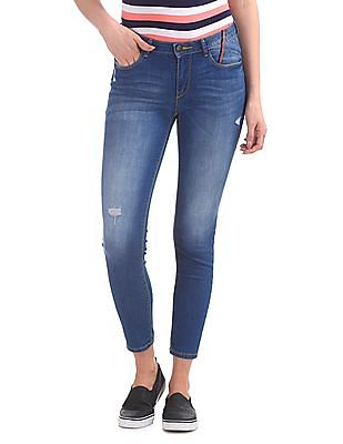 Flying Machine Women Twiggy Super Skinny Fit Whiskered Jeans