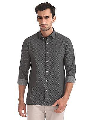 Excalibur Long Sleeve Patterned Shirt