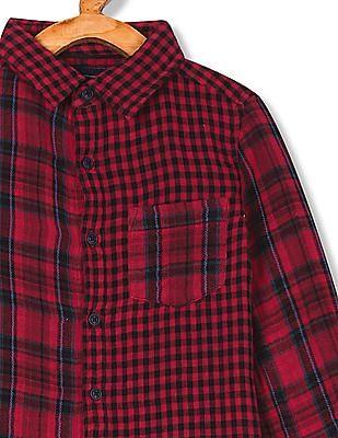 Cherokee Boys Spread Collar Check Shirt