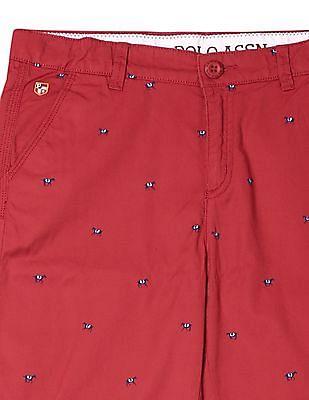 U.S. Polo Assn. Kids Boys Printed Cotton Shorts