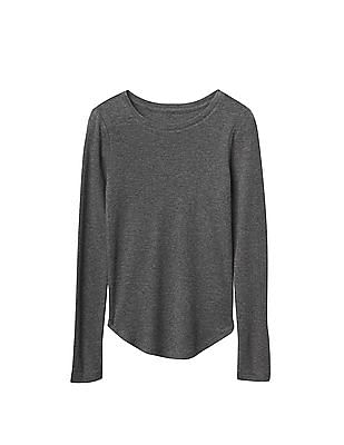 GAP Girls Solid Ribbed Tee