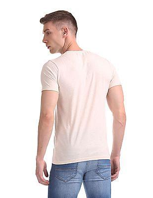 Cherokee Melange Printed T-Shirt