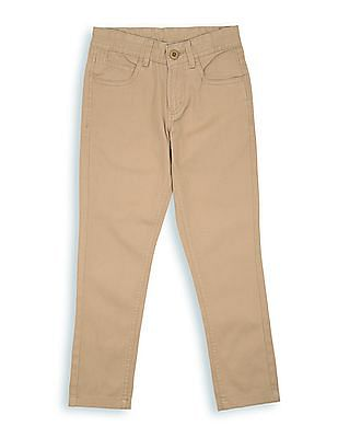 FM Boys Boys Mid Rise Slim Fit Chinos