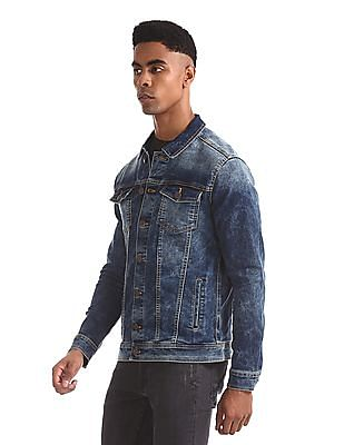 Aeropostale Blue Washed Denim Jacket