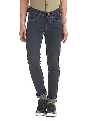 Flying Machine Blue Jackson Skinny Rinsed Jeans