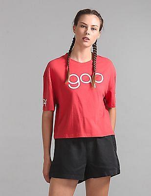 GAP Logo Print Boxy Top