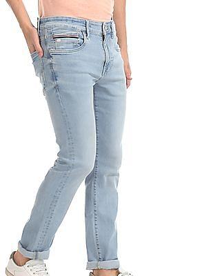 U.S. Polo Assn. Denim Co. Blue Regallo Skinny Fit Faded Jeans