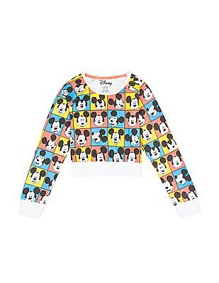Colt Girls Mickey Mouse Print Cotton T-Shirt