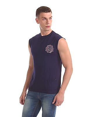 Flying Machine Applique Muscle T-Shirt