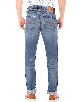 U.S. Polo Assn. Denim Co. Stone Washed Slim Straight Jeans