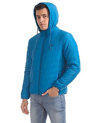Flying Machine Padded Hooded Jacket