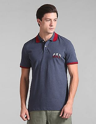 GAP Short Sleeve Contrast Tip Polo Shirt