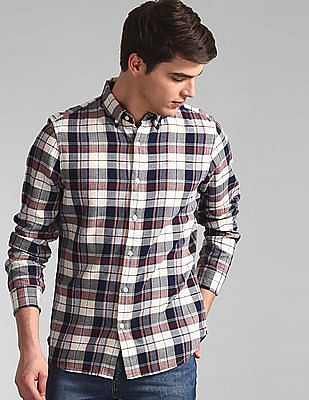 GAP Multi Colour Button Down Collar Check Shirt