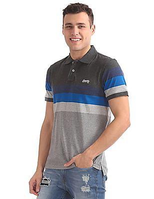 Aeropostale Regular Fit Colour Block Polo Shirt