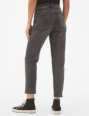 GAP High Rise Best Girlfriend Jeans with Raw Hem