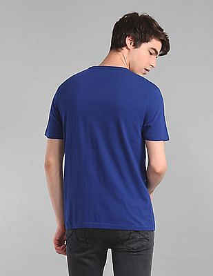 GAP Blue Crew Neck Embroidered Logo T-Shirt